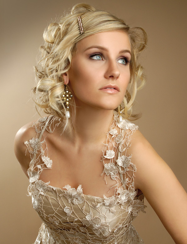 Свадебные прически для волос средней