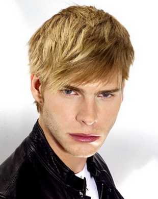 Мужские причёски с белыми волосами