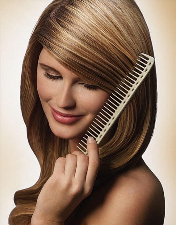 Мелирование расческой на короткие волосы в домашних условиях фото пошагово
